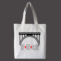 Live Love Folsom Tote Bag, Canvas Bag