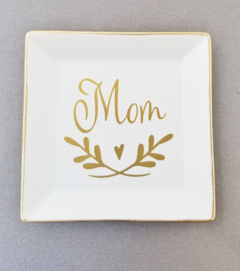 Square Personalized Jewelry Dish