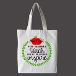 Great Teachers Inspire Personalized Tote Bag, Custom Teacher Bag