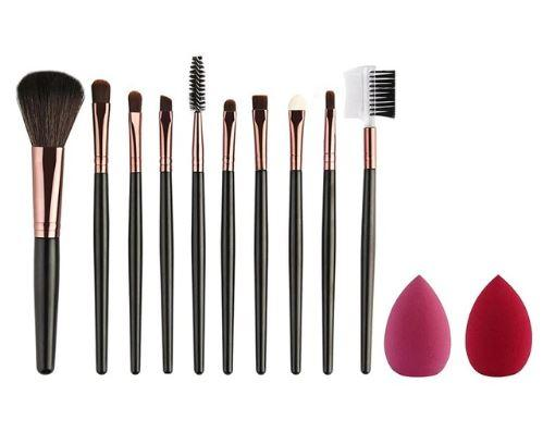 HighSpirits Essentials Black- 10 Piece Makeup Brush Set