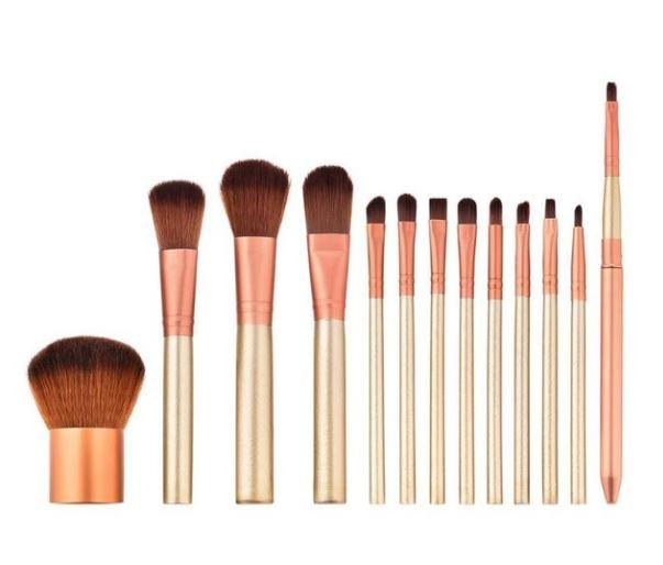 HighSpirits Essentials- 13 Piece Peach Makeup Brushes