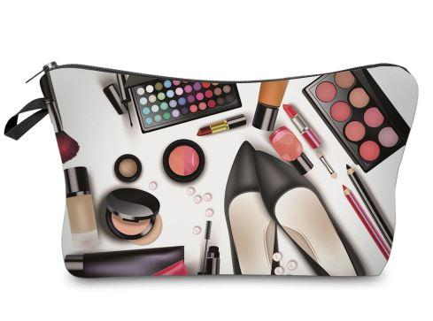 Black Shoes Makeup Bag