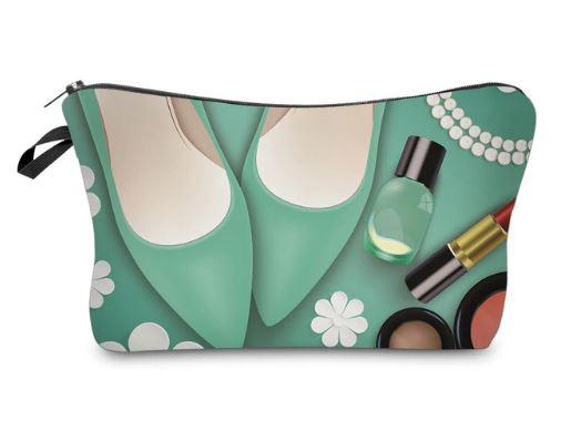 Green Shoes- Women's Cosmetics Pouch - HighSpirits Essentials