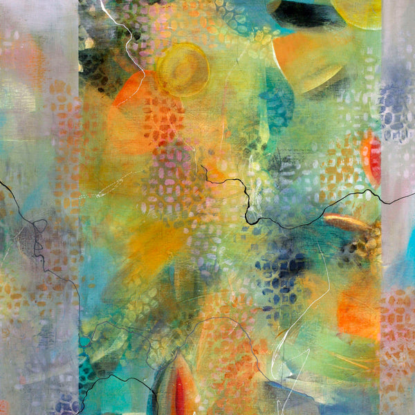 Behind the Veil - Mandy-Bankson - colorful contemporary abstract paintings and archival prints