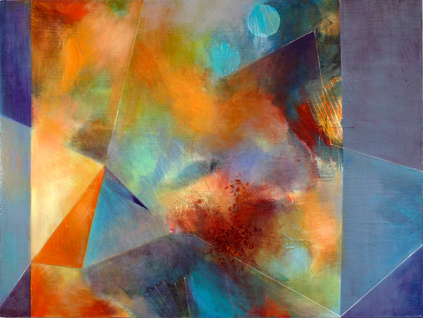 Blue Moons - Mandy-Bankson - colorful contemporary abstract paintings and archival prints