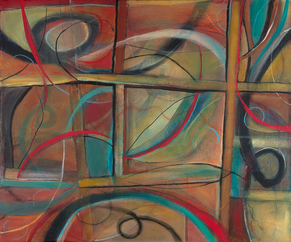 Coloring Outside the Lines - Mandy-Bankson - colorful contemporary abstract paintings and archival prints