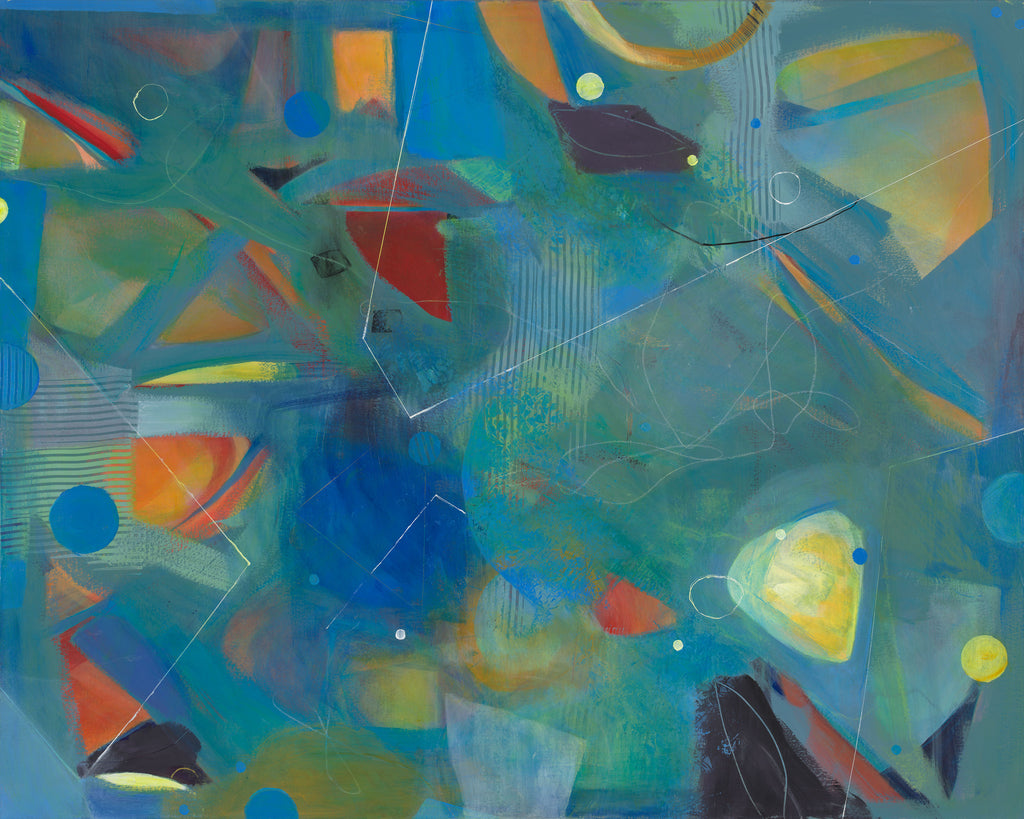 Pentimento - Mandy-Bankson - colorful contemporary abstract paintings and archival prints