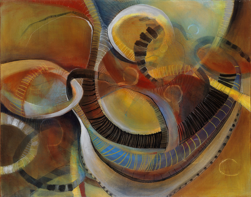 It Would Take Too Long to Tell - Mandy-Bankson - colorful contemporary abstract paintings and archival prints