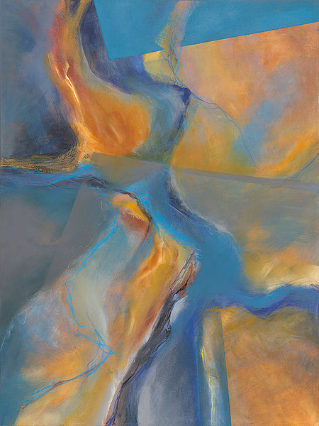 Nourished by the Mystery - Mandy-Bankson - colorful contemporary abstract paintings and archival prints