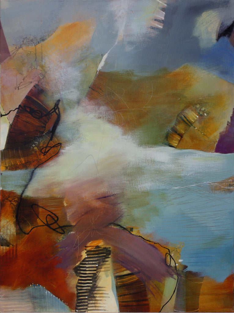 Passing Through - Mandy-Bankson - colorful contemporary abstract paintings and archival prints
