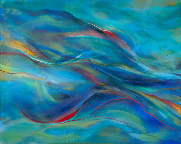 Watery Dreams - Mandy-Bankson - colorful contemporary abstract paintings and archival prints