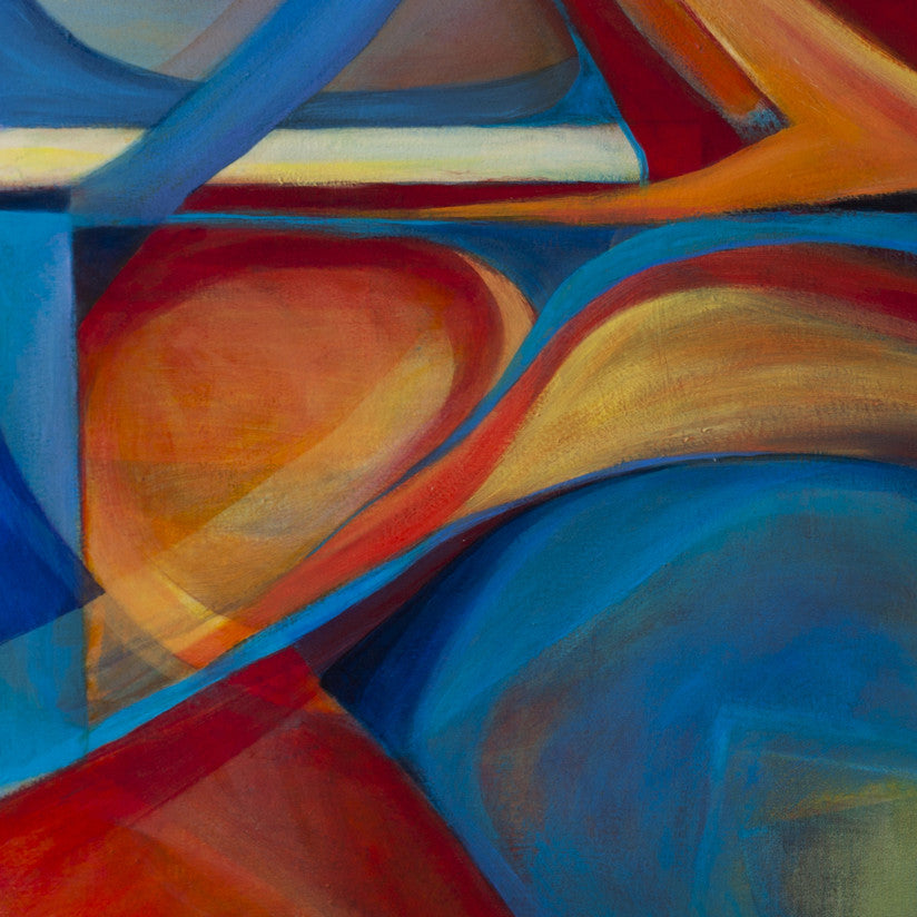 Dance of Forms Segment 2 - Mandy-Bankson - colorful contemporary abstract paintings and archival prints
