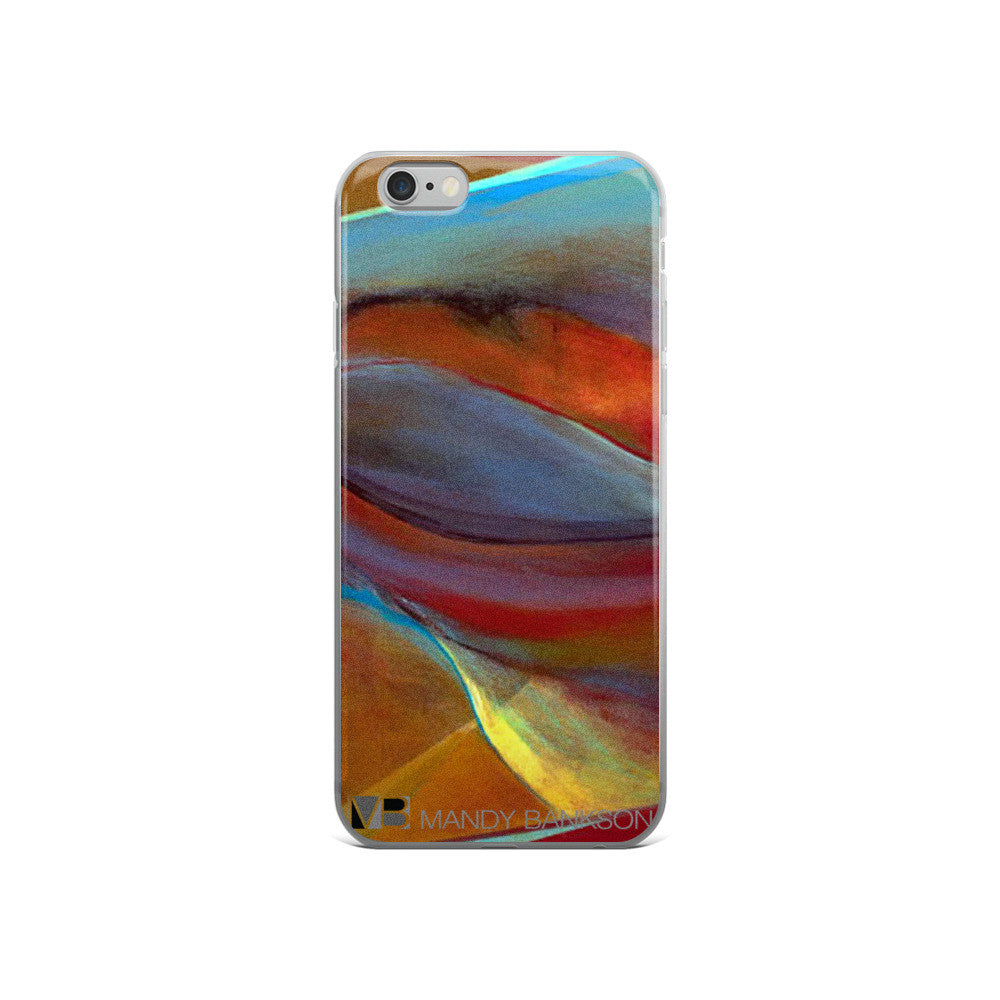 Life Inside iPhone 5/5s/Se, 6/6s, 6/6s Plus Case - Mandy-Bankson - colorful contemporary abstract paintings and archival prints