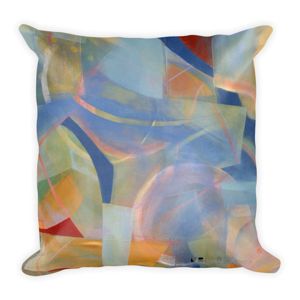 """Kinesis"" Square Pillow - Mandy-Bankson - colorful contemporary abstract paintings and archival prints"