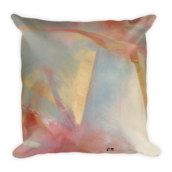 """Inception"" Square Pillow - Mandy-Bankson - colorful contemporary abstract paintings and archival prints"