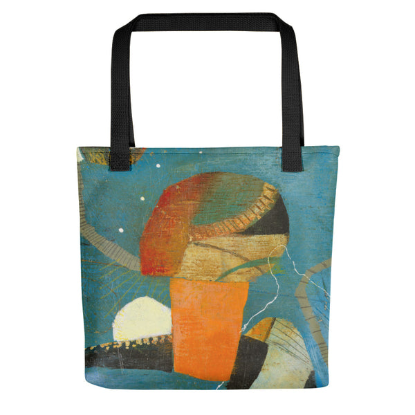"""Pieces of the Puzzle"" Tote bag - Mandy-Bankson - colorful contemporary abstract paintings and archival prints"