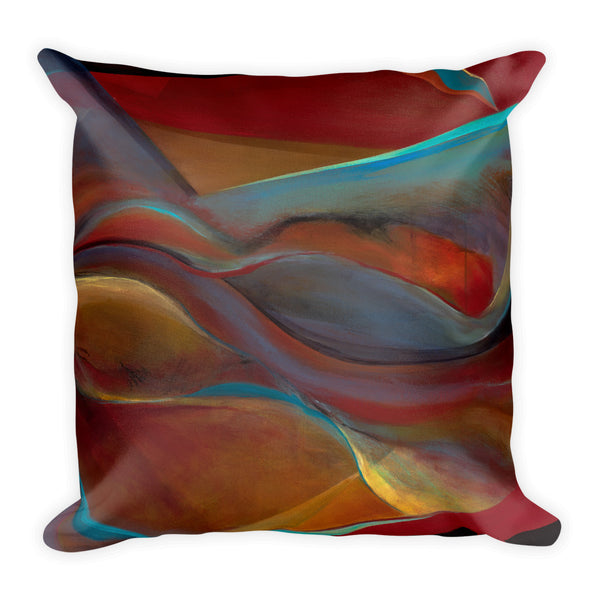 """Life Inside"" Pillow #2 - Mandy-Bankson - colorful contemporary abstract paintings and archival prints"