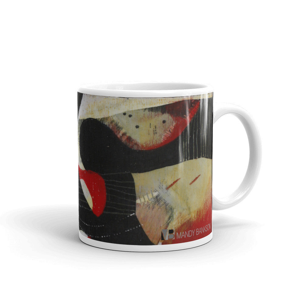 """Encounters"" Mug - Mandy-Bankson - colorful contemporary abstract paintings and archival prints"