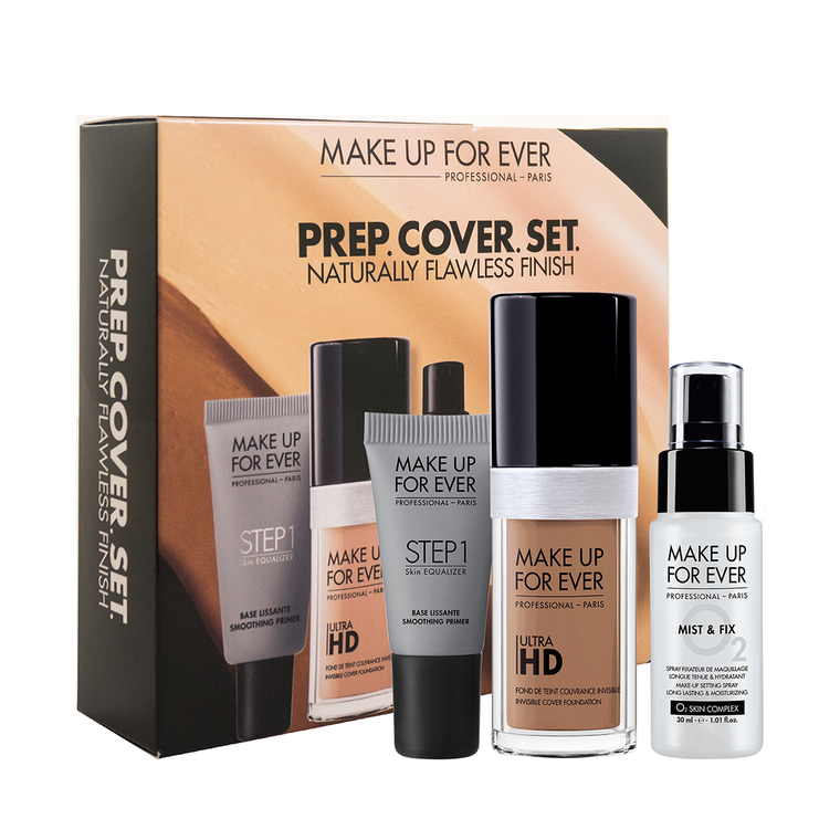PREP. COVER. SET. Customizable Ultra HD Liquid Foundation Set (₱4600 value)