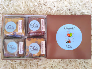 Vegan Congratulations Gourmet Bars Variety Sampler Baked Items Gift Box