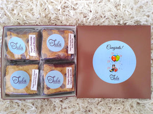 Vegan Congratulations Dairy Free Blondie Lovers Gourmet Food Gift Basket