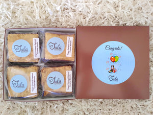 Vegan Congrats Coconut Oatmeal Caramel Blondie Gourmet Sweet Treats Gift Box