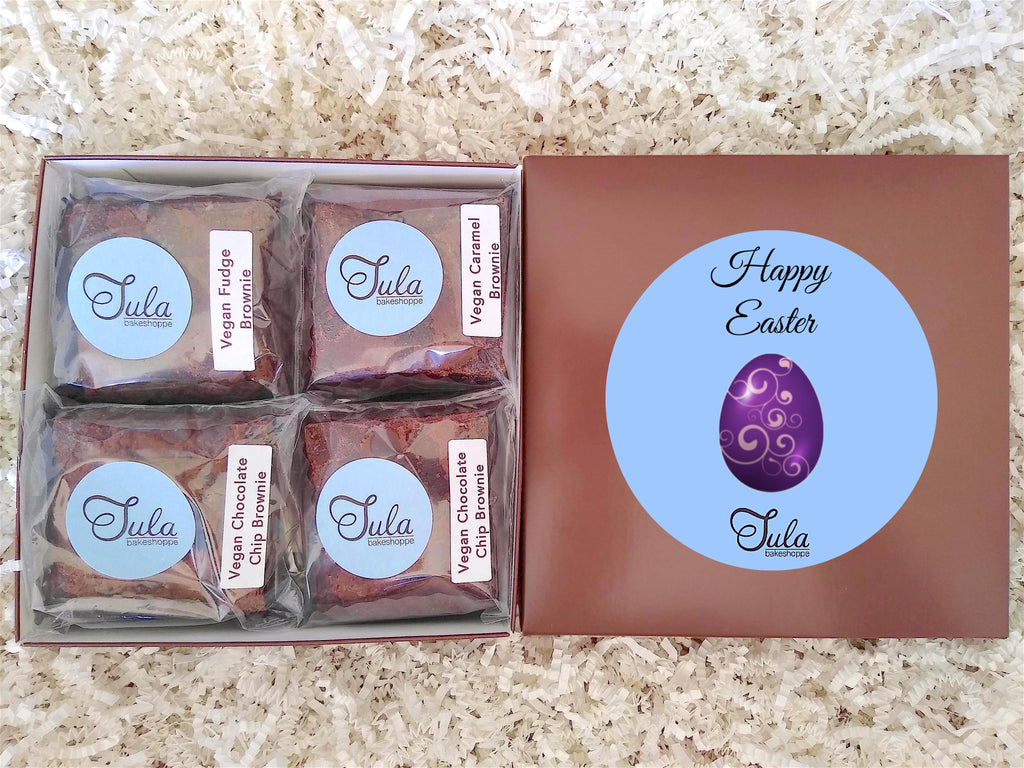 Vegan Easter Chocolate Brownie Sampler Gifts, Peanut-Free, Individually Wrapped