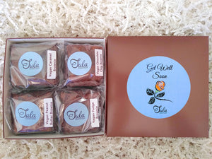 Vegan Get Well Brownie Lovers Gourmet Bakery Package Healing Snack Gift Box (Contains Peanuts)