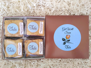 Vegan Get Well Soon Coconut Oatmeal Caramel Blondie Gourmet Sweet Treat Gift Box