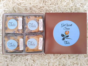 Vegan Get Well Chocolate Peanut Butter Blondies Gourmet Recovery Pastries Gift Box