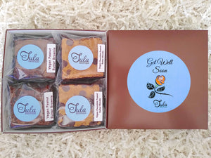 Vegan Get Well Peanut Butter Bar Lovers Baked Goods Healing Food Gift Box, Non-Dairy