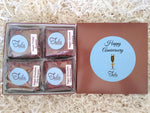 Vegan Happy Anniversary Peanut-Free Assorted Brownies Gourmet Care Package, Individually Wrapped