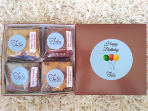 Vegan Happy Birthday Gourmet Bars Variety Sampler Baked Items Gift Box