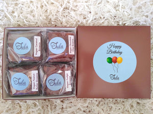 Vegan Happy Birthday Brownie Lovers Gourmet Gift Box (Contains Peanuts)