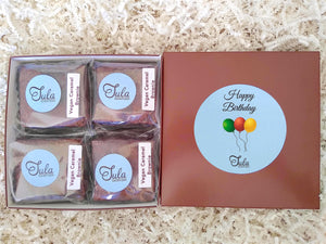 Vegan Birthday Caramel Brownie Gift Box