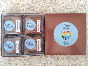 Happy Pride Brownie Lovers Gourmet Gift Box (Contains Peanuts)