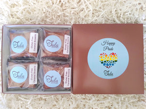 Gluten-Free Happy Pride Caramel Brownie Gourmet Favor Gift Basket