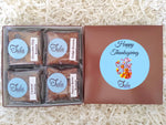 Thanksgiving Brownie Lovers Gourmet Bakery Package Snack Gift Box (Contains Peanuts)