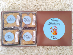 Thanksgiving Chocolate Peanut Butter Blondie Gourmet Pastries Gift Box