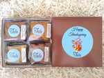 Gluten-Free Happy Thanksgiving Gourmet Cookie Bar Assorted Baked Items Gift Box