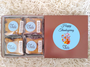 Gluten Free Thanksgiving Chocolate Peanut Butter Blondie Gourmet Pastries Gift Box