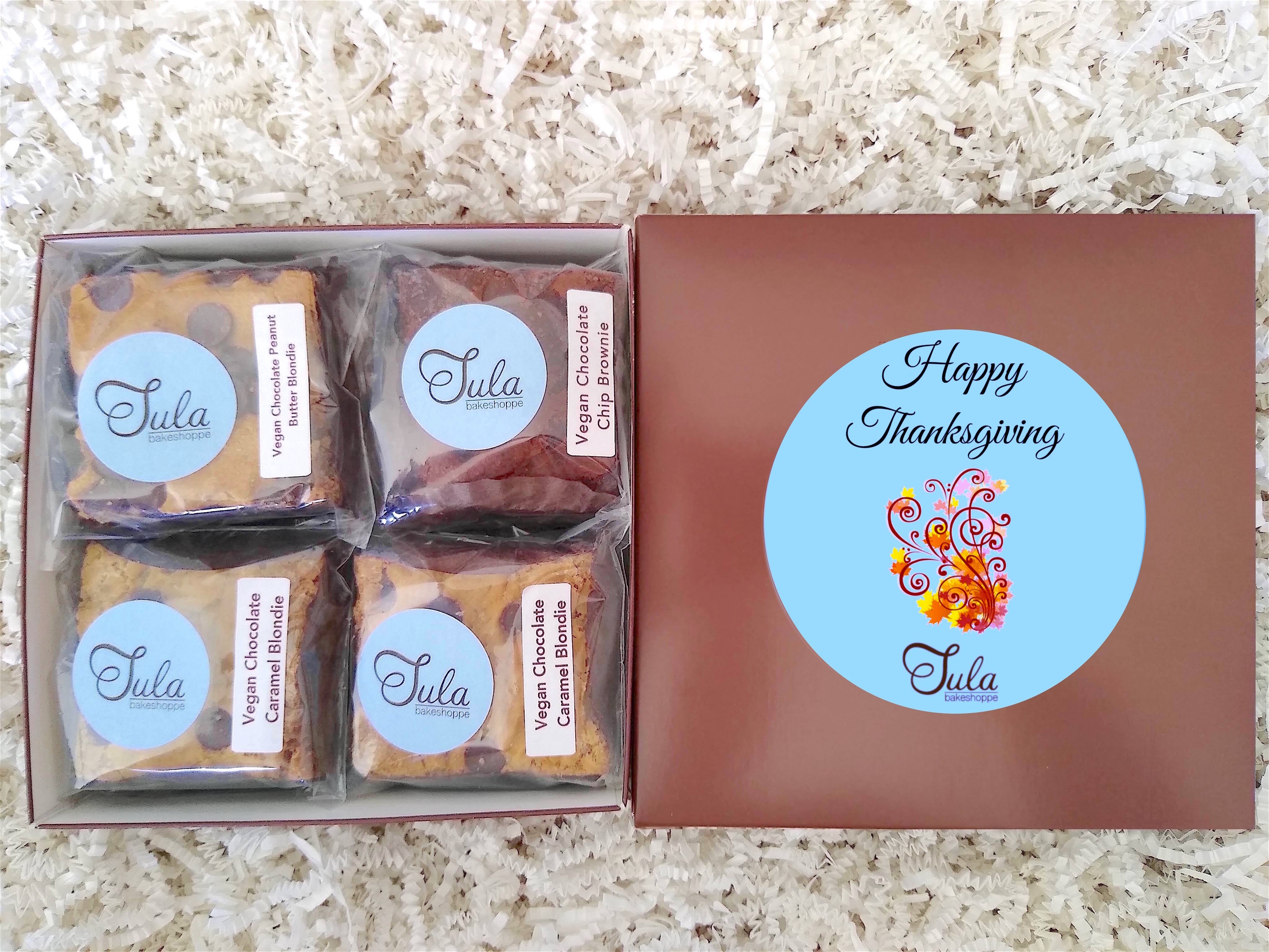 Vegan Thanksgiving Gourmet Bars Favorites Dessert Gift Box