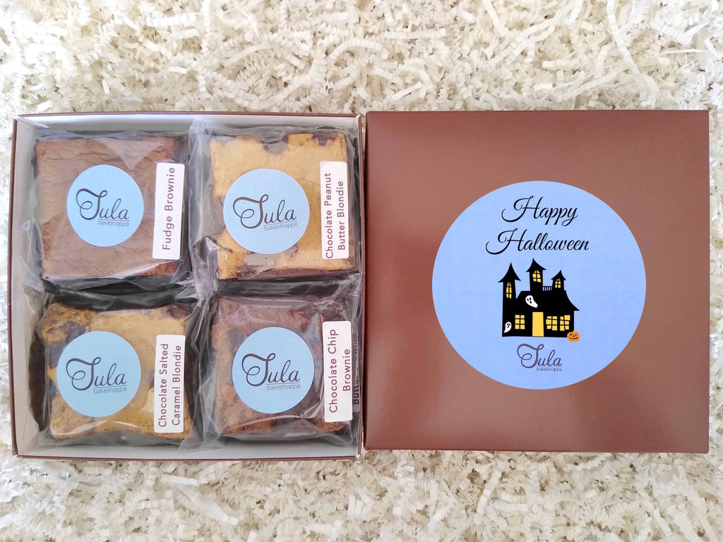 Happy Halloween Gourmet Cookie Bar Variety Sampler Baked Items Gift Box, Business / Corporate Gifts