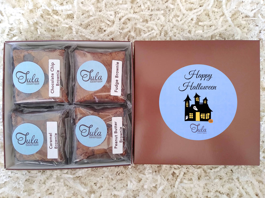 Halloween Party Brownie Lovers Gourmet Bakery Package Snack Gift Box (Contains Peanuts)