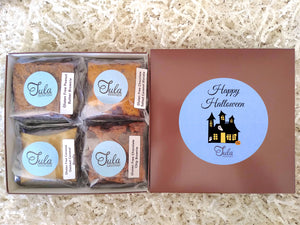 Gluten Free Happy Halloween Gourmet Cookie Bar Variety Sampler Baked Items Gift Box, Business / Corporate Gifts