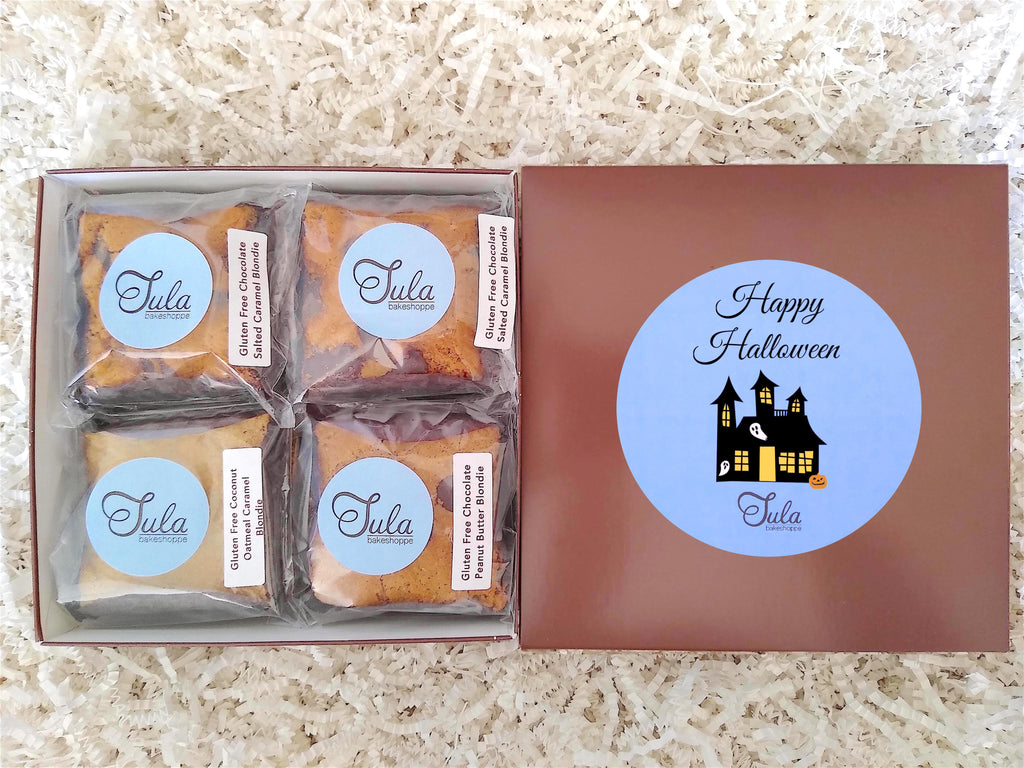 Gluten-Free Halloween Blondie Lovers Gourmet Dessert Gifts Care Package, Individually Wrapped