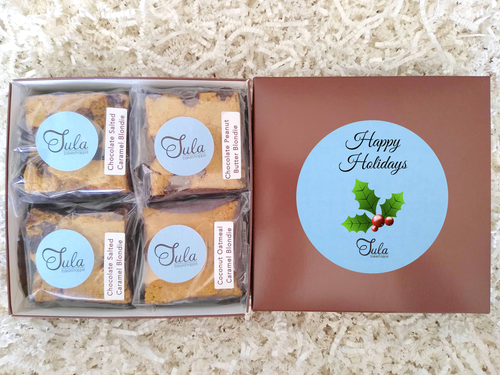 Holiday Blondie Lovers Gourmet Cookie Bars Gift Basket, Individually Wrapped