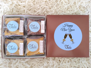 Happy New Year Caramel Lover Bars Gourmet Favor Snack Food Gifts