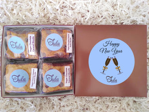 Vegan New Years Eve Dairy Free Blondie Lovers Gourmet Treats Gift Basket, Individually Wrapped