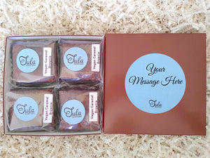Vegan Personalized Caramel Brownie Gourmet Favor Bakery Items Gift Basket